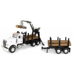 1/16 Big Farm Peterbilt 367 Logging Truck with Log Trailer