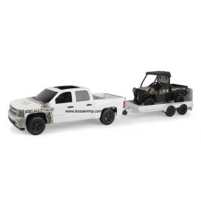 1/16 Big Farm Chevy Pickup withFlatbed trailer & JD Gator