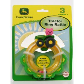 John Deere Tractor Ring Rattle