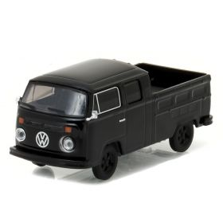 1/64 VW Volkswagen Pickup Double Cab 1976 Black Bandit Series 17