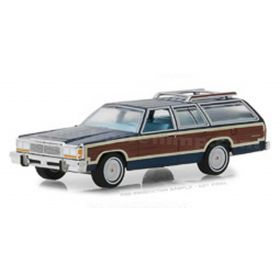 1/64 Ford LTD Country Squire blue Series 1