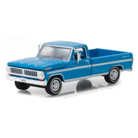1/64 Ford F-100 Pickup 1970 with long bed blue