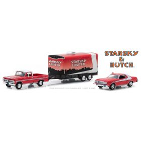 1/64 Ford F-100 1972 with Enclosed Car Hauler & 1976 Ford Gran Torino Starsky & Hutch