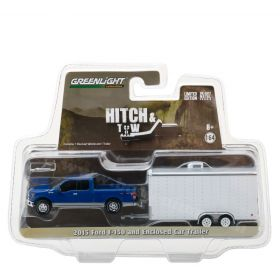 1/64 Ford F-150 2015 with Enclosed Car Hauler Trailer