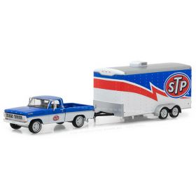 1/64 Ford F-100 Pickup 1970 with STP Trailer Series 12