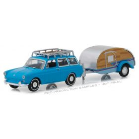 1/64 VW Volkswagon Type 3 Squareback 1961 with Tear Drop Trailer