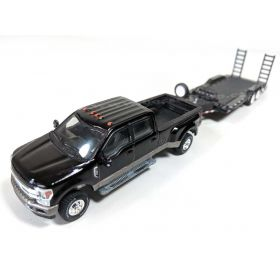 1/64 Ford Pickup F-350 King Ranch 2015 dually with Flatbed Trailer red