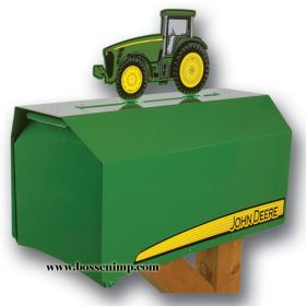 Mailbox Estate Style John Deere with 8000 Tractor Topper