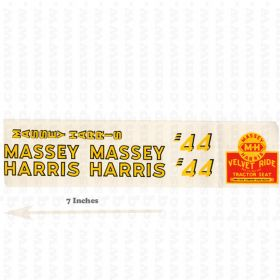 Decal Massey Harris 44 Velvet Ride small Pedal Tractor