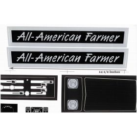 Decal All American Farmer Pedal Tractor Decal set