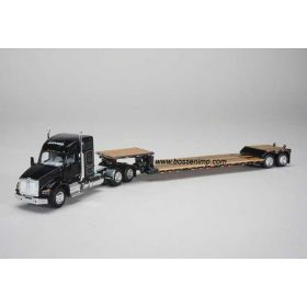 1/64 Kenworth T880 Semi with lowboy trailer Gleaner