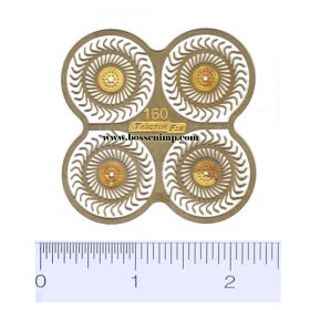 1/64 Hay Rake Wheels Set of 4 Photo Etched .012 Brass
