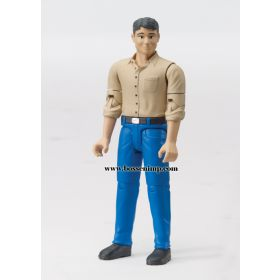 1/16 Man with light skin, blue jeans & shoes