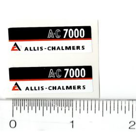 Decal 1/16 AC 7000 Model Numbers (Maroon Belly) (Pair)