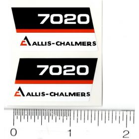Decal 1/16 AC 7020 Model Numbers (Black Belly) (Pair)