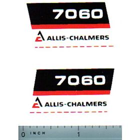 Decal 1/16 Allis Chalmers 7060 Model Number (black bellly)