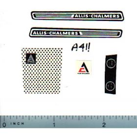 Decal 1/16 Allis Chalmers Lawn & Garden Set