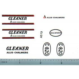 Decal 1/32 Allis Chalmers Gleaner F Set (closed engine)