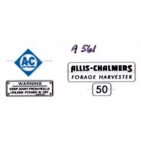 Decal 1/16 Allis Chalmers Forage Harvester 50 Set