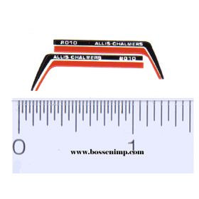 Decal 1/64 Allis Chalmers 8010 Hood Stripes