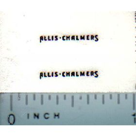 Decal 1/64 Allis Chalmers for WC (black on clear)