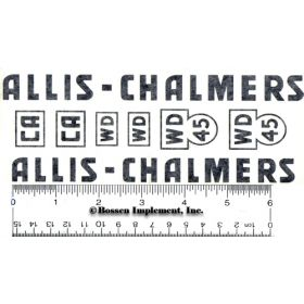 Decal Allis Chalmers CA, WD, and WD45 for pedal
