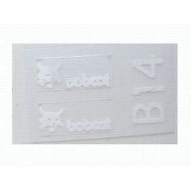 "Decal Bobcat Logo 1/4"" (White)"