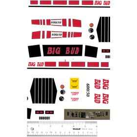 Decal 1/16 Big Bud 600/50 Red Set Complete