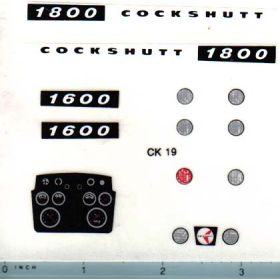 Decal 1/16 Cockshutt 1600 or 1800 Set