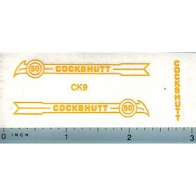 Decal 1/16 Cockshutt 50 (yellow)