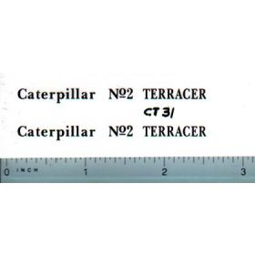 Decal 1/16 Caterpillar No. 2 Terracer (black)