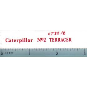 Decal 1/16 Caterpillar No. 2 Terrancer (red)
