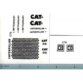 Decal 1/16 Caterpillar D6 Set