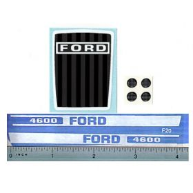 Decal 1/12 Ford 4600 set