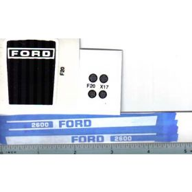 Decal 1/12 Ford 2600 set