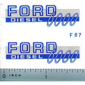 Decal 1/12 Ford 6000 Diesel (blue)