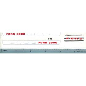 Decal 1/12 Ford 3000 Split Grille Set