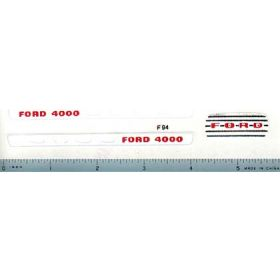 Decal 1/12 Ford 4000 Split Grille Set