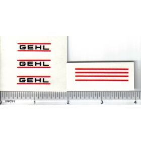 Decal Gehl Set with Stripes