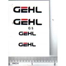 Decal Gehl Set - Black & Red