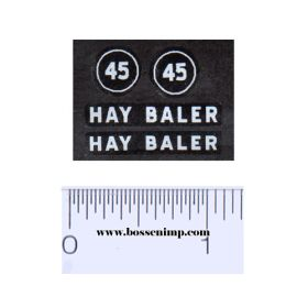 Decal 1/16 IH 45 Hay Baler Set