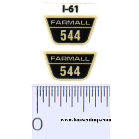 Decal 1/16 Farmall 544 Model Number