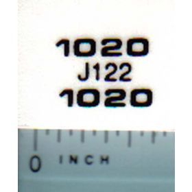 Decal 1/16 John Deere 1020 JD Model Numbers