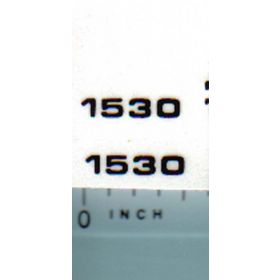 Decal 1/16 John Deere 1530 Model Numbers