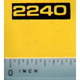 Decal 1/16 John Deere 2240 Model Numbers