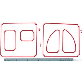 Decal 1/16 John Deere Combine No 1, 2, or 3 Pin Striping Set (red)