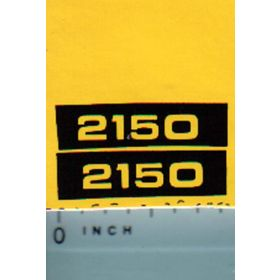 Decal 1/16 John Deere 2150 Model Numbers