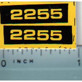 Decal 1/16 John Deere 2255 Model Numbers