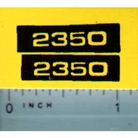 Decal 1/16 john Deere 2350 Model Numbers