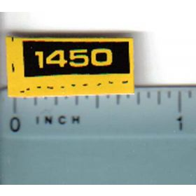 Decal 1/16 John Deere 1450 Compact Utility Model Numbers